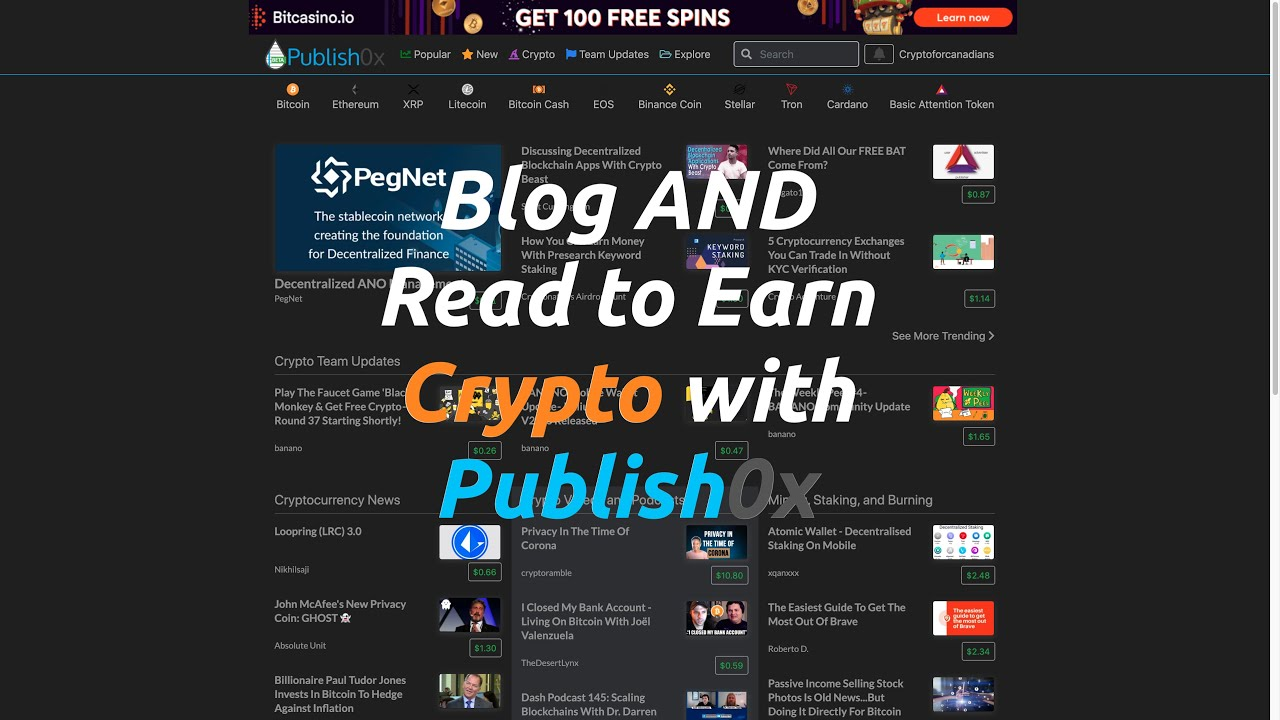 Publish0x - Earn Crypto to Blog AND Read
