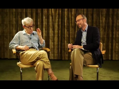 Woody Allen is live chatting video with Robert Weide on facebook