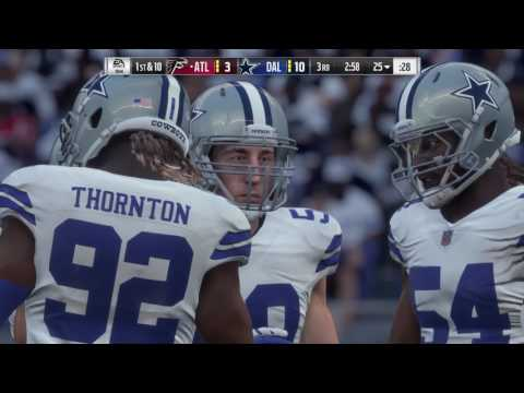 Madden NFL 18 Broadcast View Gameplay | Falcons vs Cowboys