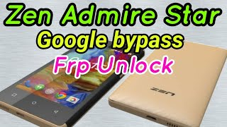 Zen Admire Star Frp unlock done by by mobile pc solution