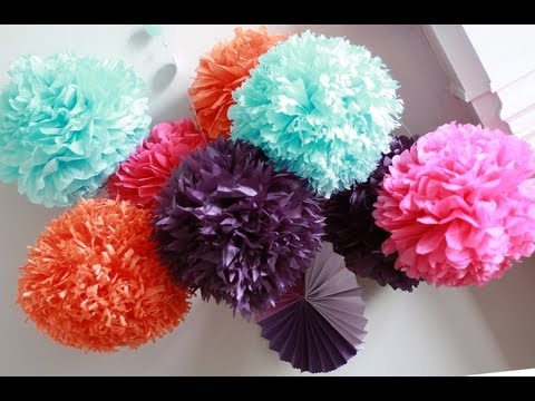 How To DIY Paper Pom Tutorial | Decorations that impress
