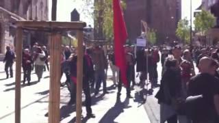 Manifestation en marge de la venue de François Hollande