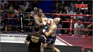 Unbelievable!!! The Only Double Knock down in Muaythai History ! Must Watch !!! thumbnail