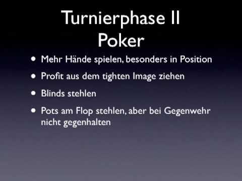 turnier poker strategie