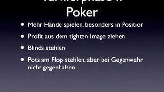 Poker Turnier - Tutorial (1)
