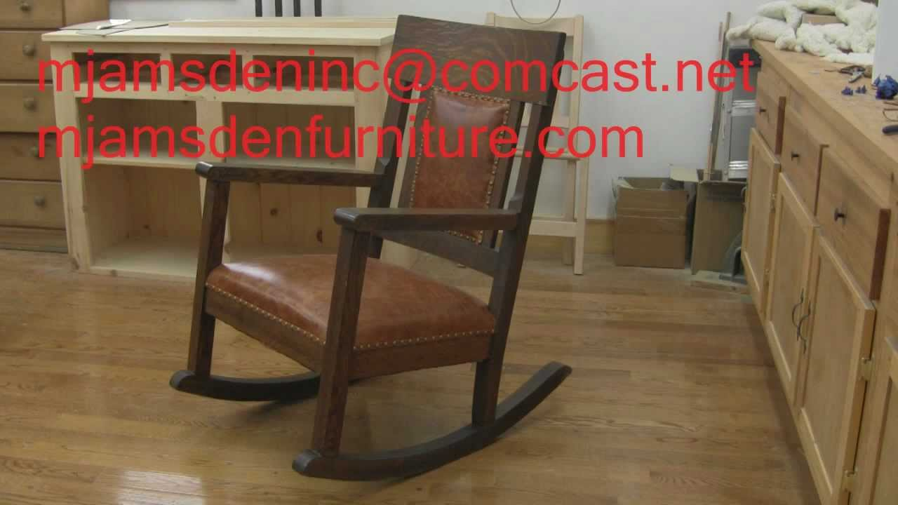 - Antiquer Rocker Reupholstery - YouTube