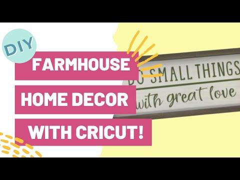 DIY FARMHOUSE HOME DECOR WITH CRICUT!