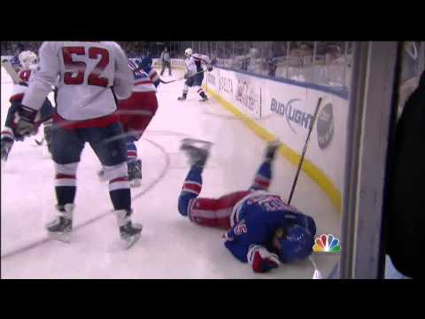Mike Green crosscheck on Derek Dorsett May 12 2013 Washington Capitals vs NY Rangers NHL Hockey
