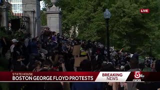 Protest over George Floyd's death marches to Boston Common