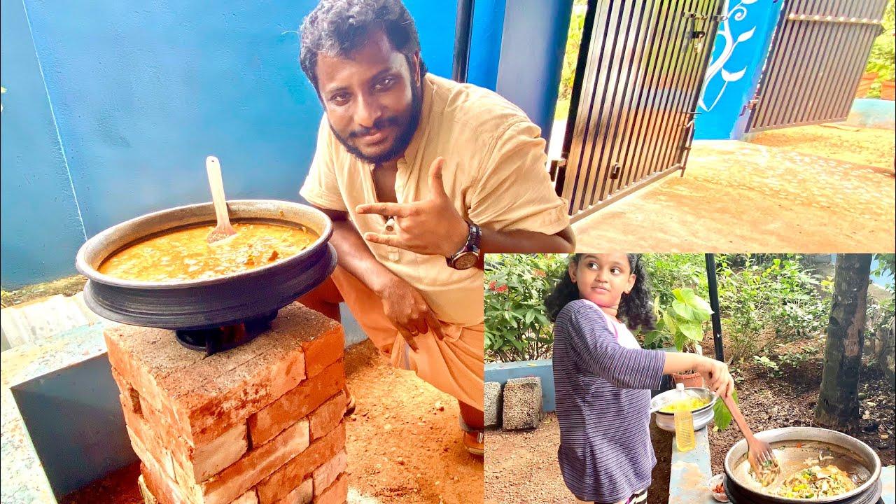 ബീഫിന് കൂട്ടായൊരു  ബ്രെഡ്ഫ്രൂട്ട് അതും റോക്കറ്റ് അടുപ്പിൽ///How to make breadfruit beef curry 🍛.