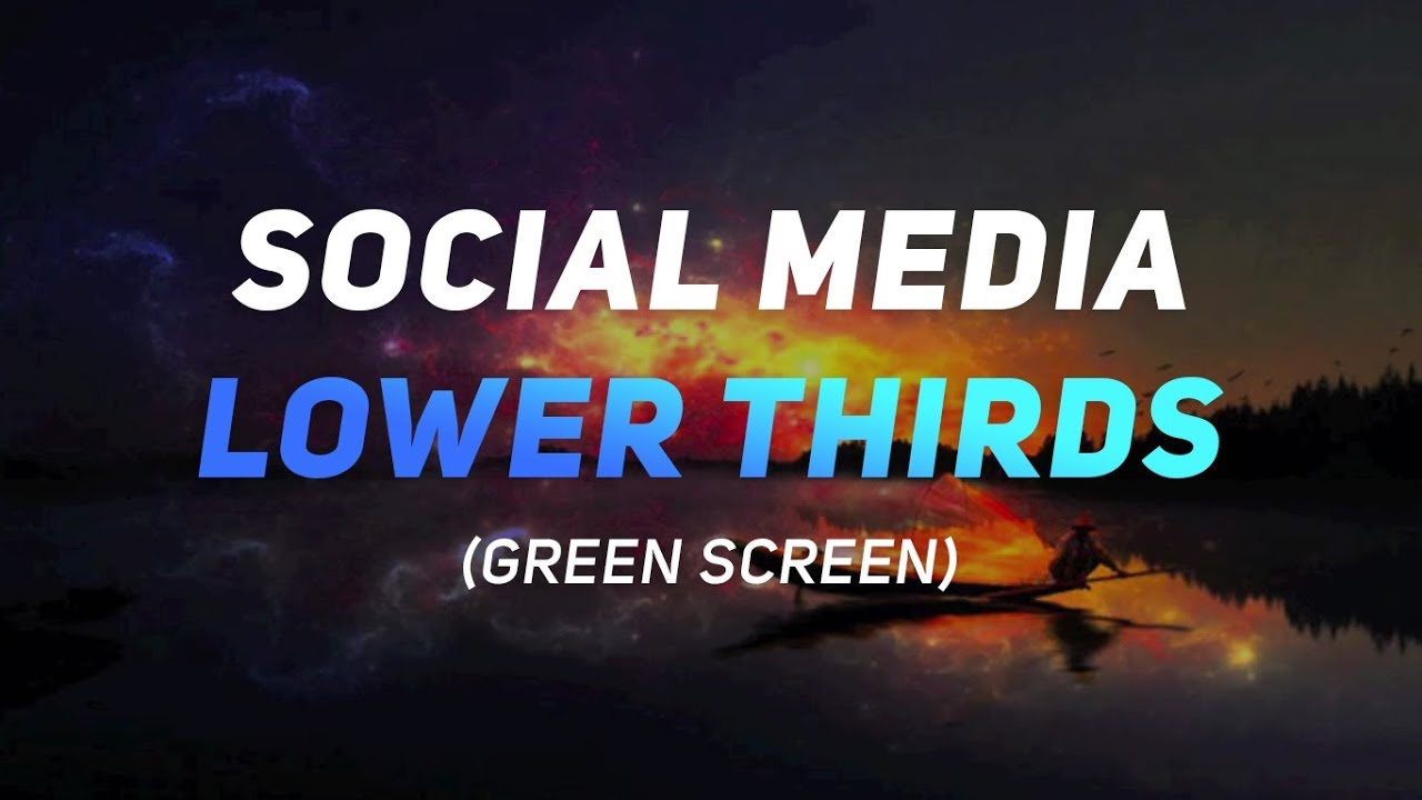 (FREE) Social Media Lower Thirds - Green Screen (NO SOFTWARE REQUIRED -  Motion Graphics)