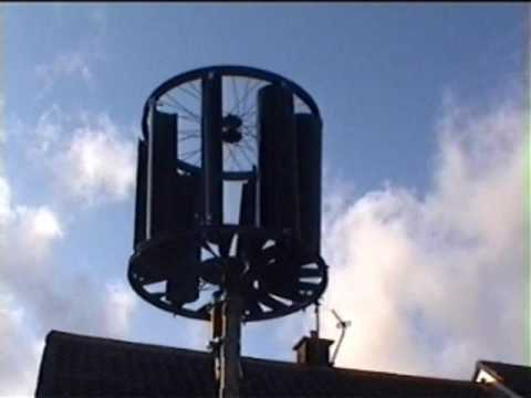 Homemade Vertical Axis Wind Turbine