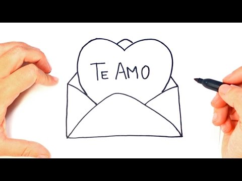 Como dibujar un Carta de Amor paso a paso | Dibujo Carta Romantica