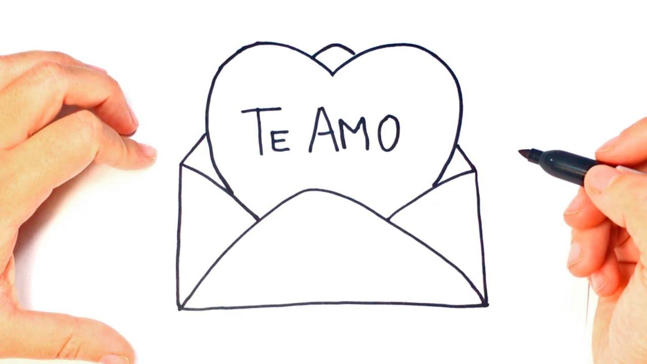 Como Dibujar Un Carta De Amor Paso A Paso Dibujo Carta Romantica