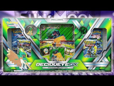 Opening a Decidueye GX Premium Collection Box of Pokemon Cards!