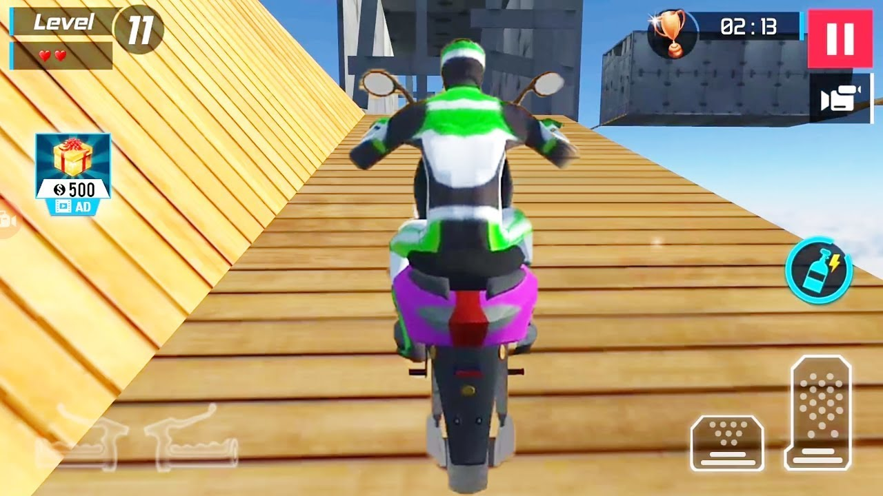 Motocross Scooter Uphill Stunt Racing Game || Scooter Bike
