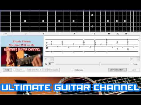 Guitar Solo Tab Titanic Theme My Heart Will Go On Youtube
