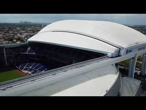 MARLINS PARK BY DRONE EYES