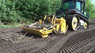 Forestry clearing and subsoiling MeriCrusher MJFS-240 STX making fine mulch
