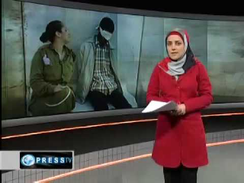 IDF soldier Poses with blindfolded Palestinian prisoners Zionist Girl