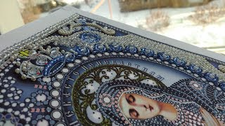 Икона Богородица Умиление кристаллами и жемчугом, обзор + отчет № 1 (Образа в каменьях)