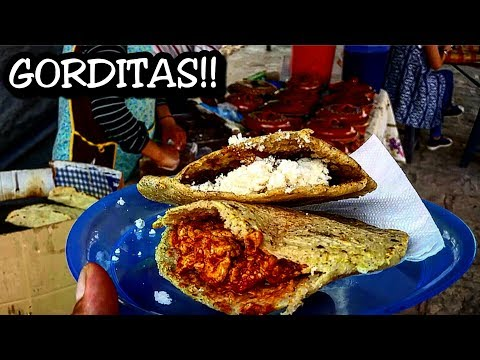 Authentic Gorditas at a Street in Mexico