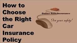 How to Choose the Right Car Insurance Policy | Avoiding Disaster