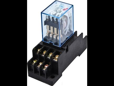 workshop electrical engineering  how to operate relay omron model my4n 3a  220v/240 vac