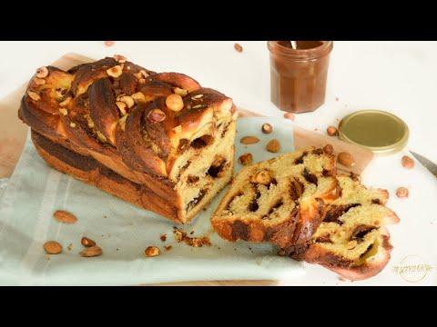 brioche-tressée-chocolat-noisettes- -babka