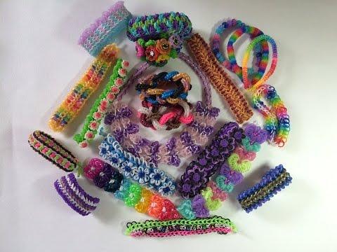 Моя коллекция браслетов из резинок Rainbow Loom