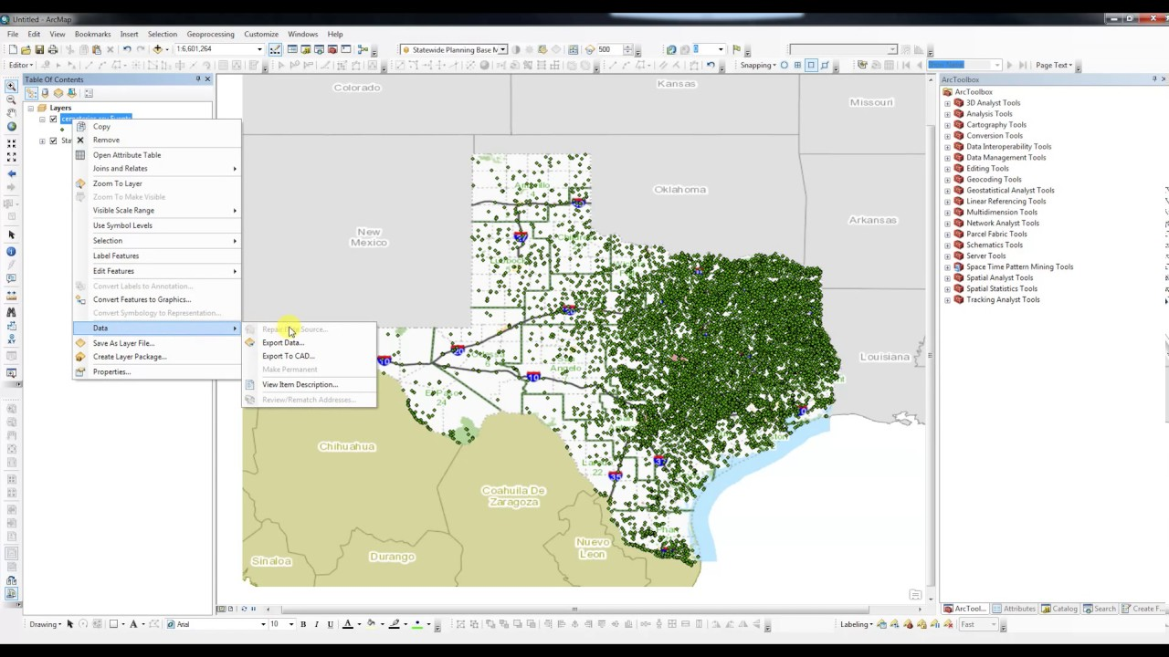 643ed5bfbc1 Creating a Point Shapefile from a .CSV in ArcMap - YouTube
