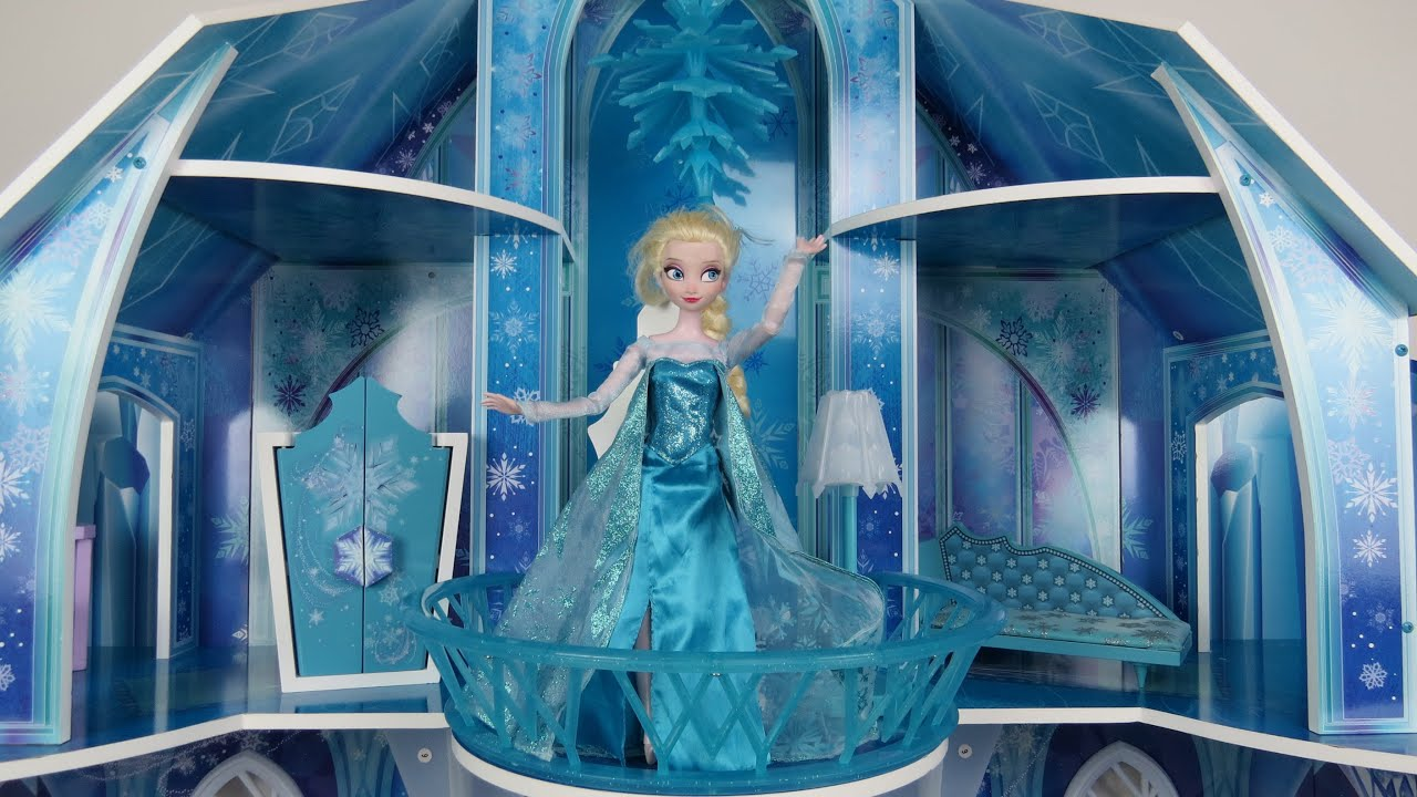 Elsa From Frozen Shows Amazing Ice Palace To Anna Youtube