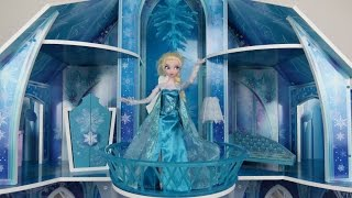 Elsa from Frozen shows amazing ICE Palace to Anna