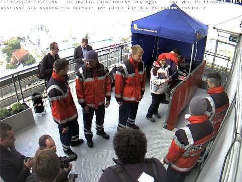 4. Berliner Firefighter Stairrun 2014 Webcam Ziel ab 11:02 Uhr