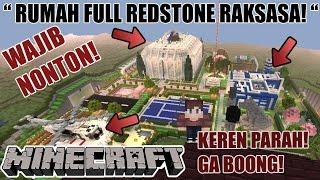 RUMAH REDSTONE RAKSASA TERLENGKAP SEPANJANG MASA! WAJIB LIAT! (1) - Minecraft Redstone Showcase