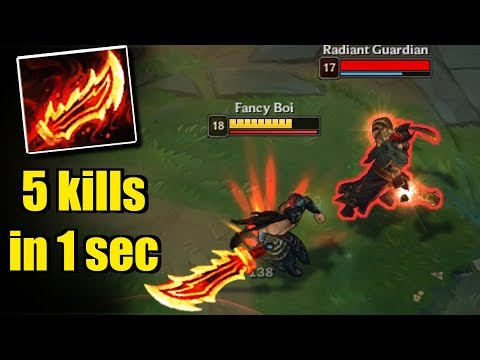 RAGEBLADE TRYNDAMERE - 5 kills in 1 second -  League of Legends Compilation