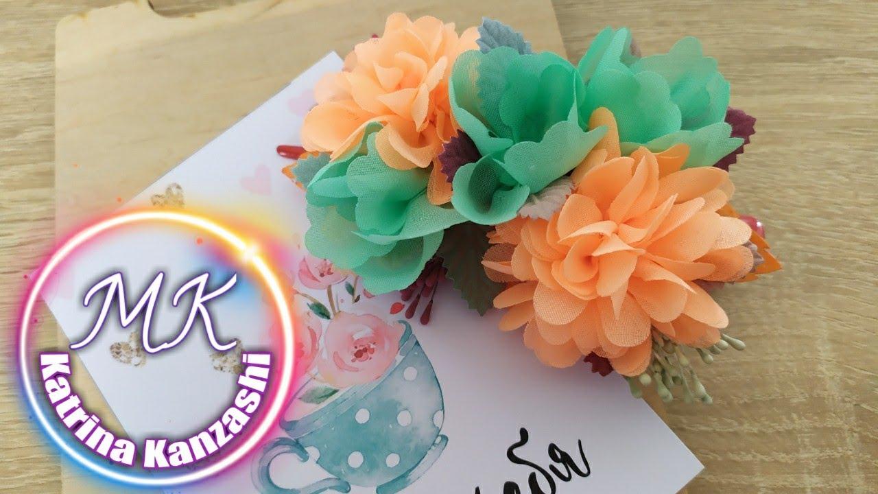 Все краски осени 🍁 вас приятно удивит это украшение . Kanzashi МК ✂️.DIY 🙌.