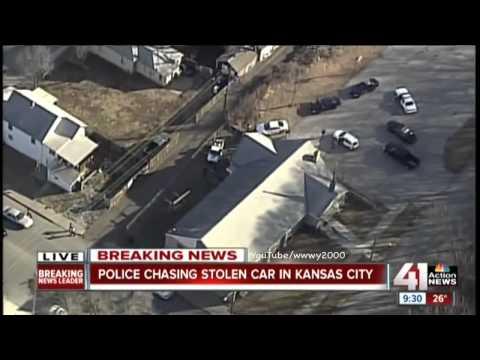 Kansas City Police Chase (February 13, 2015) KSHB   Suspect Killed on LIVE TV!