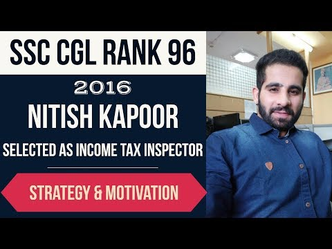 SSC CGL AIR 96 - Which mistakes to avoid in SSC CGL Exam? Selected as Income tax inspector
