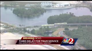 Third delay for tram service at OIA