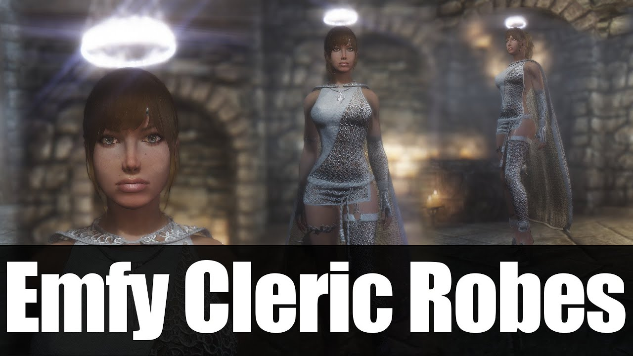 Skyrim Mods - Emfy Cleric Robes UNP - CBBE [4k/HD]