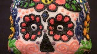 How to make Day of the Dead Sugar Skulls / Dia de los Muertos Calaveras Tutorial