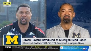 ESPN GET UP | Jalen Rose react to  Juwan Howard introduced as Michigan Head Coach