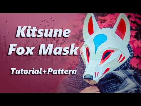 Kitsune Fox Mask Tutorial *with Pattern*