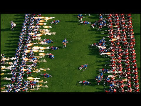 HUGE 18TH CENTURY LINE BATTLE - Cossacks 3 Gameplay