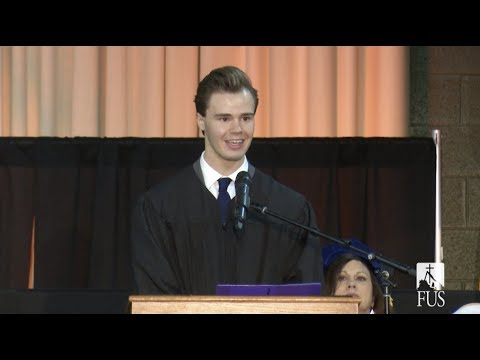 Student Body President Derek Markle's Speech at Father Dave's Inauguration