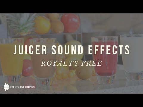 JUICER BLENDER SOUND EFFECT WITH VIDEO! HIGH QUALITY FREE DOWNLOAD
