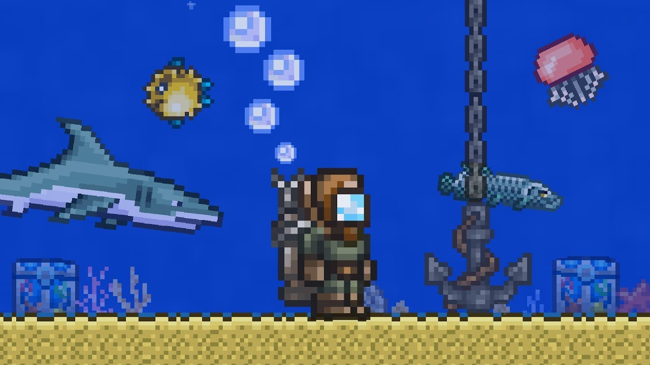 What happens when you flood your whole Terraria world?