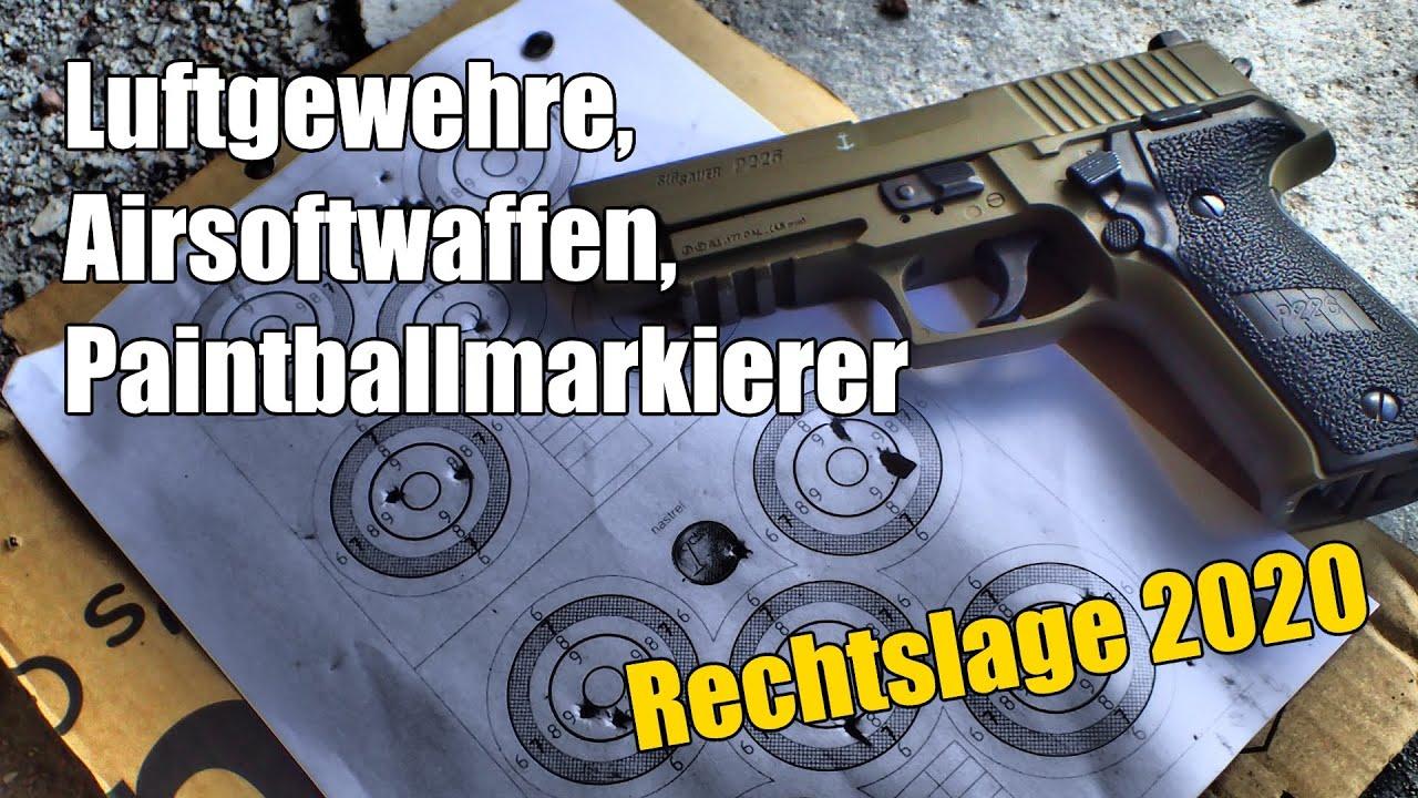 Druckluftwaffen im Waffengesetz (Luftgewehr, Airsoft und Paintball)