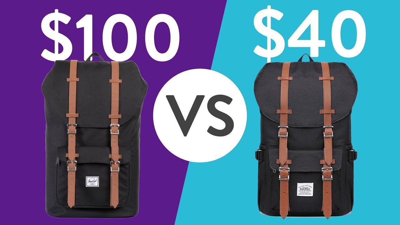 Kaukko vs Herschel backpack comparison - Worth it?